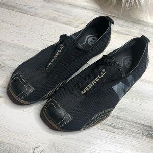 Merrell zip shoes size 6.5 Black
